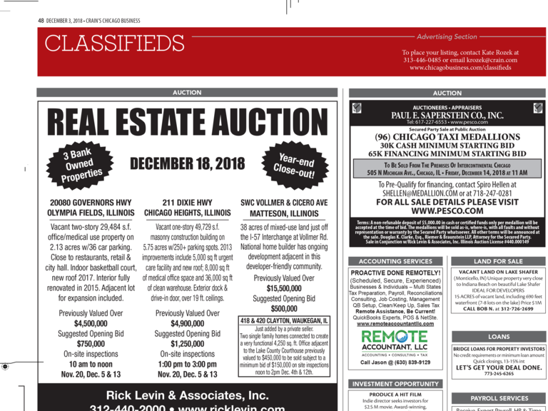 Rick Levin Auctions | Chicago Taxi Medallions